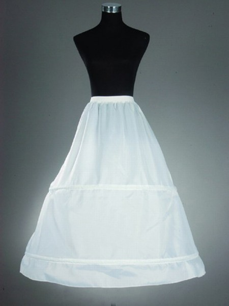 A-Line 1 Tier Floor Length Nylon Slip Style/Wedding Petticoats