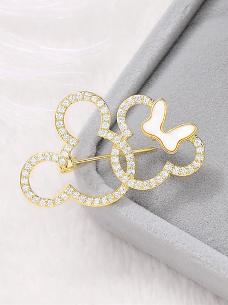 Belle broche strass pour femme
